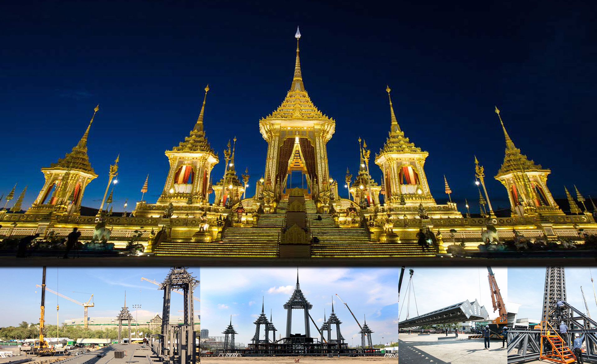 The Construction of the Royal Crematorium for the Funeral of the Late King Bhumibol Adulyadej